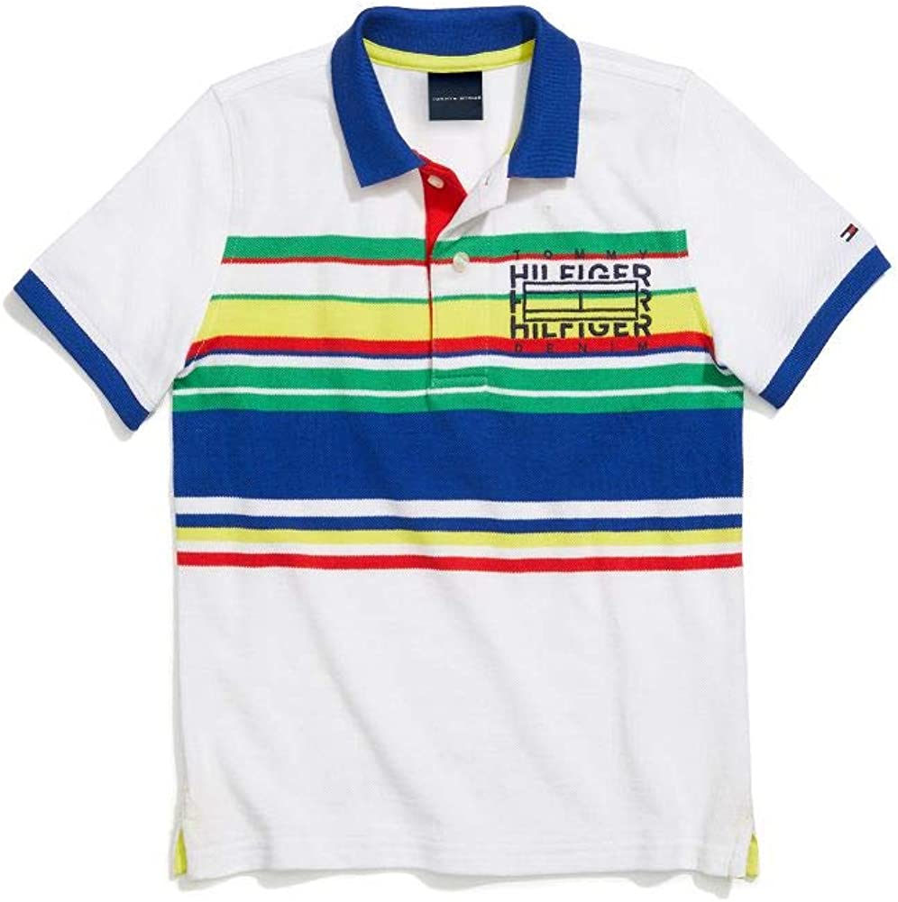 Tommy Hilfiger Boys' Adaptive Polo Shirt with Magnetic Buttons