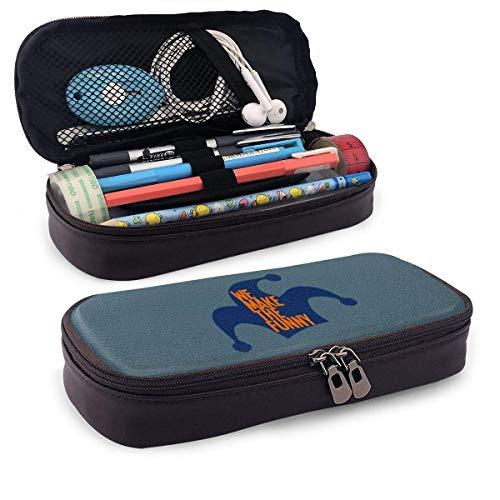 Wir machen die lustige Joker Leder Bleistift Fall Bleistifte Textmarker Tasche für Middle High School Collage Office
