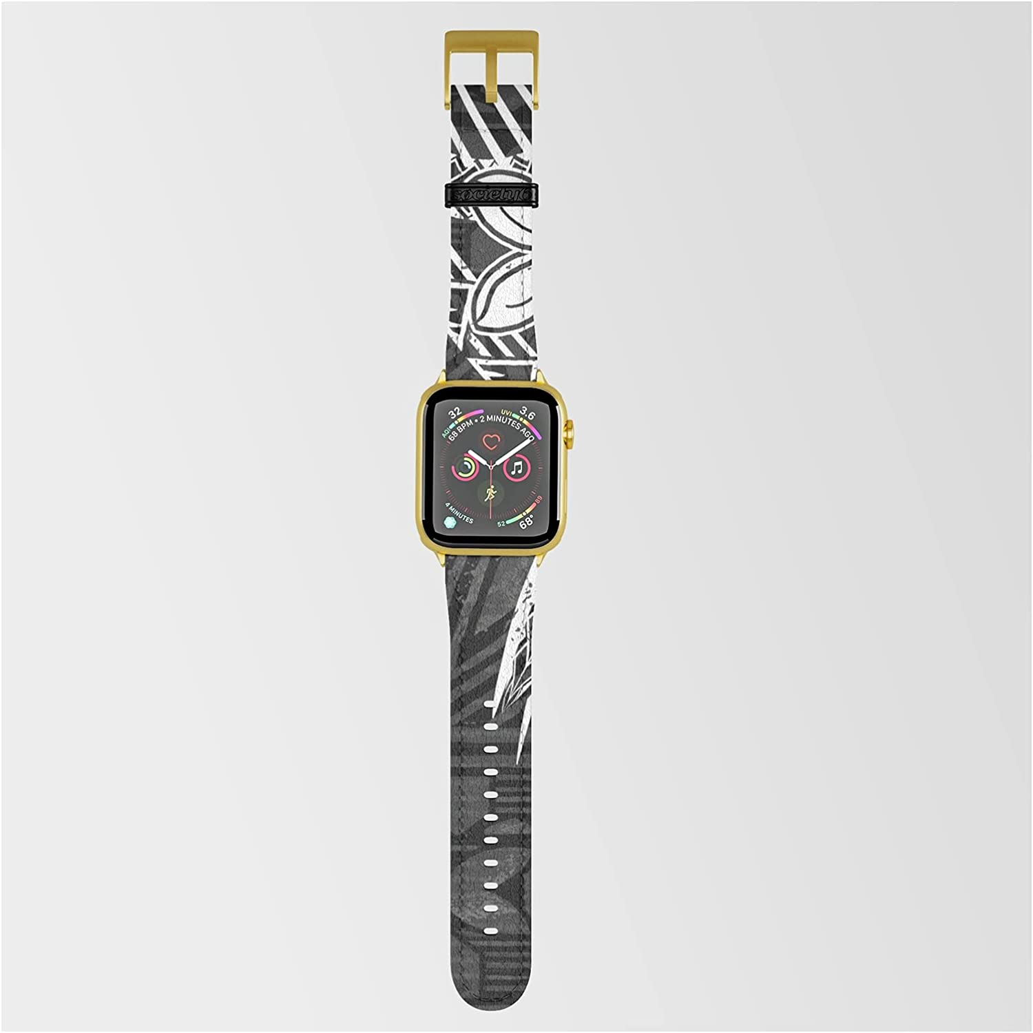 Vintage Max 90% OFF Samoan Tapa Print by Sun Translated on Threads Band Co Smartwatch N