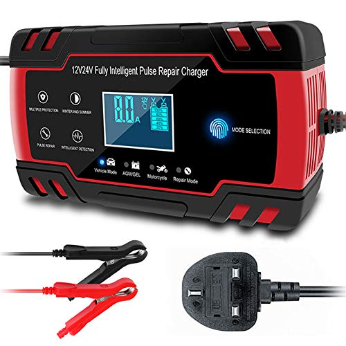 CQWL Car Battery Charger, 12V 24V 3-Stage Automatic Trickle Battery Charger Maintainer Intelligent...