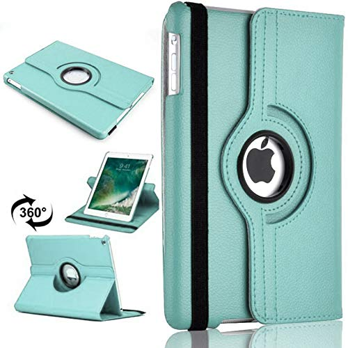 PU Leather Rotate Stand Case Cover For Apple iPad 10.2 2019/2020 8th/7th Gen A2428 A2429 (Sky Blue)