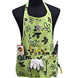 Oxford Cloth Work Apron Garden Apron for Home Garden Waterproof,Heavy Duty Work Apron with Tool Pockets Adjustable up to XXL for Men & Women