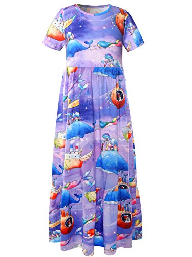 Bonny Billy Girls Dresses Floral Printed Casual Maxi Long Dress