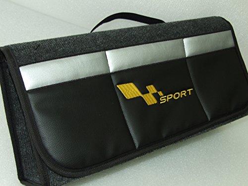 OneKool Renault Sac de coffre Sport Sacoche à outils Voiture Organiseur Noir pour tous Boot Tidy Convient à tous les modèles Audi, BMW, Mercedes Benz, VW, Jaguar, Mini, Ford, Honda, Fiat, Skoda, Seat, KIA, Porsche.