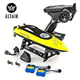 Altair AA Wave RC Remote Control Boat for Pools & Lakes - Free Priority Shipping - Child Safe Propeller System for Kids, Self Righting, 2 Batteries, 23 km/h Speed, 2.4gHz (Lincoln, NE Company)