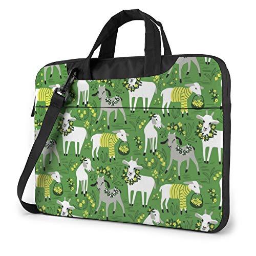 MATEH Goat Laptop Sleeve Case 14 Inch Computer Tote Bag Shoulder Messenger Briefcase for Business Travel