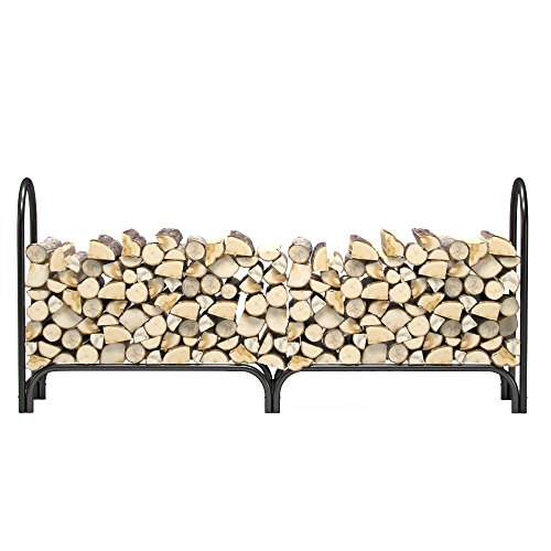 Regal Flame 8 ft Heavy Duty Firewood Shelter Log Rack for Fireplaces and Fire Pits to Enjoy a Real Fire or Complement Vent-Free, Propane, Gas, Gas Inserts, Ethanol, Electric, Indoor Outdoor Fireplaces