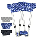 Vive Crutch Pads with Hand Grips - Padding for Underarm Crutches - Padded Handle Covers - Universal Under Arm Soft Cushioned Covers for Walking - Accessories for Men, Women, Kids (1 Pair, Camo)