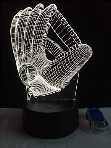 Sport Baseball Fänger Handschuh 3D Led Lampe Nach Hause Usb Nachtlicht Stadion Junge Geschenk Schlafzimmer Mehrfarbige Party Tischdekoration Beleuchtung-Touch Switch