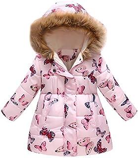 GoodLock Baby Boys Girls Winter Warm Coats Toddler Floral Hooded Windproof Jacket Coat