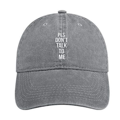 ANIUERLN Pls Don't Talk to Me Unisex Baseball Cap Adjustable Washable Cotton Outdoor Sports Hat for Men Women