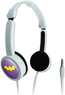 GRAPHICS & MORE Batman Batgirl Logo Novelty Travel Portable On-Ear Foldable Headphones