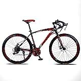 TXX 21 Velocidades Neumáticos Sólidos Y Ciclismo Adulto de Peso Ligero,Bicicleta de Carretera Estudiantes de Ambos Sexos,Velocidad de Vuelo Directo Curva el Coche de Carreras Mosca Muerta Suv /