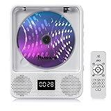 NAVISKAUTO Reproductor de CD Montado en la Pared con Bluetooth 5.0, Altavoces HiFi, Radio FM para Hogar, Batería Recargable, Control Remoto