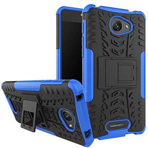 XINFENGDI Alcatel POP 4S Hülle,Handytasche Kratzfest aus TPU/PC Material Reifenprofil Handyhülle Kompatibel mit für Alcatel POP 4S - Blau