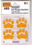 ABS Stopper zum Aufbügeln Socken Anti-Rutsch Farbe 01-gelb