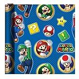 スーパーマリオ ラッピングペーパー 包装紙 ギフト プレゼント キャラクター パーティ フェスティバル クラフトペーパー 梱包 (並行輸入品) gift wrap