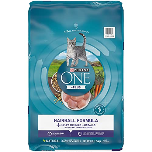 Purina ONE Natural Dry Cat Food, Hairball Formula - 16 lb. Bag