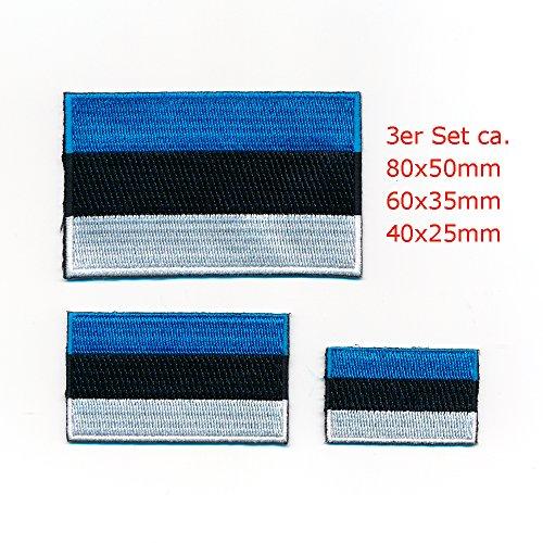 Estland Flaggen Europa Tallinn Tartu Flags Patches Aufnäher Aufbügler Set 1058