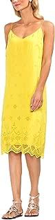 Womens Scalloped Eyelet Slip Dress