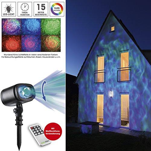LED Projektionslampe Sternenhimmel, Polarlicht Lichteffekte, Weihnachten Projektor Beleuchtung mit Farbwechsel & Fernbedienung,wasserdicht IP65 mehrfarbige Weihnachtslicht Spotlight Draussen Lampe