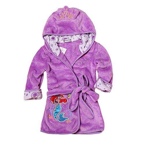 LIUONEXI Baby Jungen Mädchen Cartoon Bademantel Weichkorallen Fleece Infant Kleinkind Muticolored Nachtwäsche Outfit, 110, Lila