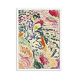 Henri Matisse carteles e impresiones retro, paisaje abstracto arte de la pared decoración de imagen retro, pintura de lienzo sin marco A1 60x80cm