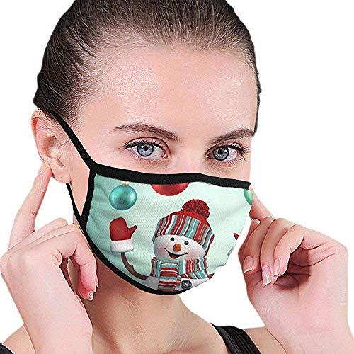 Kerstmis sneeuwpop patroon design half gezicht mondmasker gezichtsmasker anti-stof gezicht en neusafdekking cool soft windproof skimondmasker