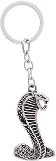 Zinc Alloy Metal Ford Cobra Keychain - Silver and Black