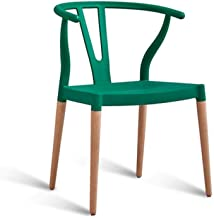 Office Gaming Solid Wood Horns Y Chair, Ergonomic Backrest Chair For Home/study/desk/restaurant/consulting/office Black 52x40x76CM for garden bedroom living room (Color : Green)