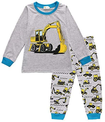EULLA Schlafanzug Jungen Zweiteiliger Baumwolle Kinder Nachtwäsche 2-bagger 122