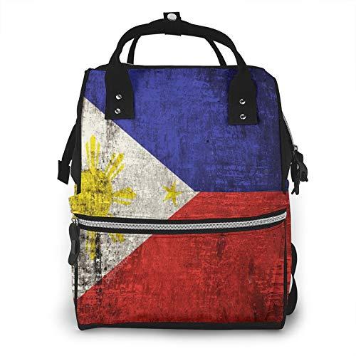 Bandera de Filipinas Gran Capacidad Multifunción de la Mummy Mochila de Bebé Pañal Bolsas para el Cuidado del Bebé