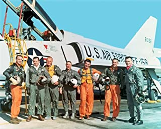 New 11x14 Photo: Original Mercury Seven Astronauts with F-106B