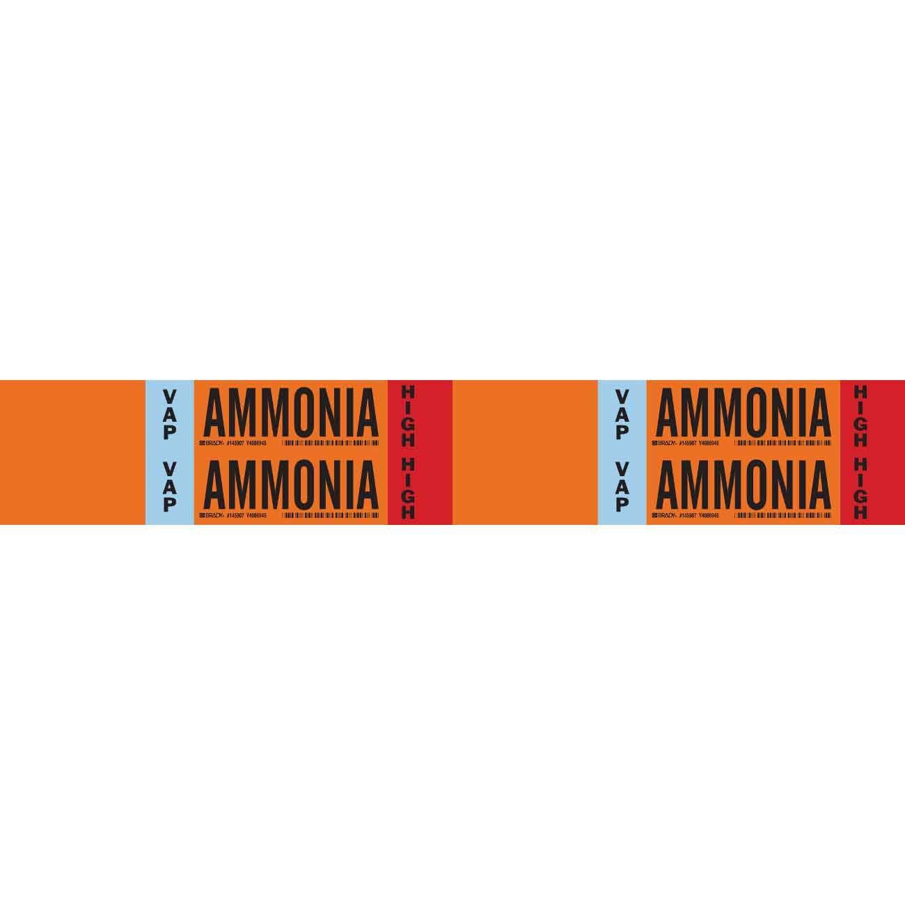 Brady VAP Ammonia HIGH Pipe Marker, 1.125