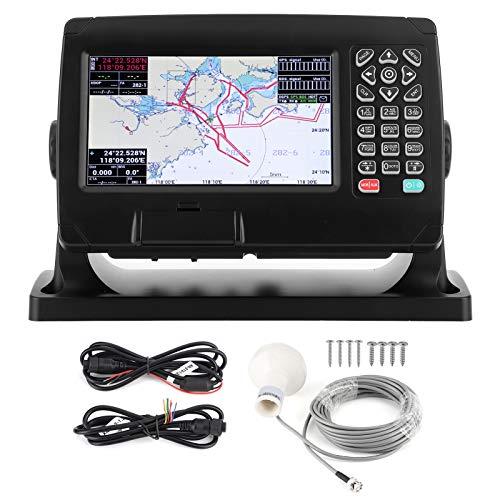 KIMISS Trazador de cartas de 7 pulgadas, Trazador de cartas de barco Navegación marina BDS/GPS IPX6 Pantalla de alarma AIS Mapas costeros Accesorio de trazador de cartas con llave
