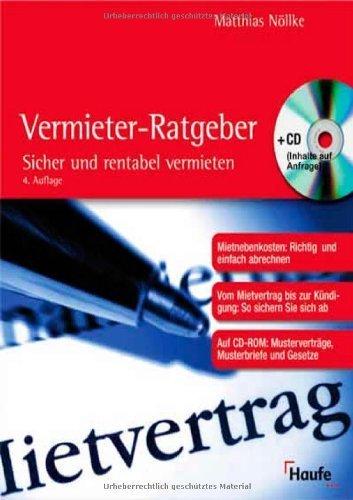 Der Vermieter-Ratgeber, m. CD-ROM von Matthias Nöllke (September 2008) Taschenbuch