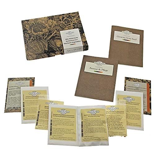 Magic Garden Seeds Hortalizas históricas - Kit de Semillas Regalo con 8 Verduras Menos conocidas