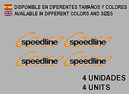 Ecoshirt 8K-9XDR-WQGX Autocollants Speedline Corse F195 Stickers Aufkleber Decals Autocollants Rallye Racing Blanc Orange
