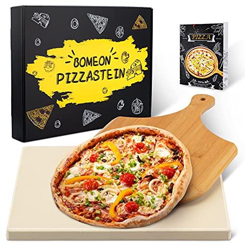 BOMEON Pizzastein für Backofen und...