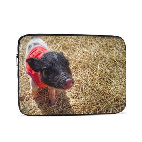 MacBook Pro Cover Mini Pig Walking On The Fields Mac Cases Multi-Color & Size Choices10/12/13/15/17 Inch Computer Tablet Briefcase Carrying Bag