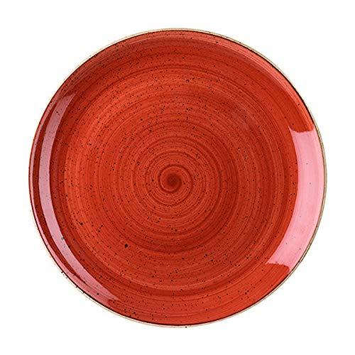Visiodirect Lot de 12 Assiettes Plates stonecast Terracota - 26 cm