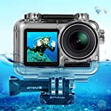 Fine for DJI Osmo Action Camera 40M Sports Camera Waterproof Housing Case Shell Diving HD Underwater Camcorder EIS Wide Angle Lens Housing Case (As Shown)