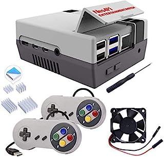 GeeekPi Retro Gaming Nes4Pi Case for Raspberry Pi 4 Model B, Raspberry Pi 4 Case with Fan Raspberry Pi Cooling Fan Raspber...