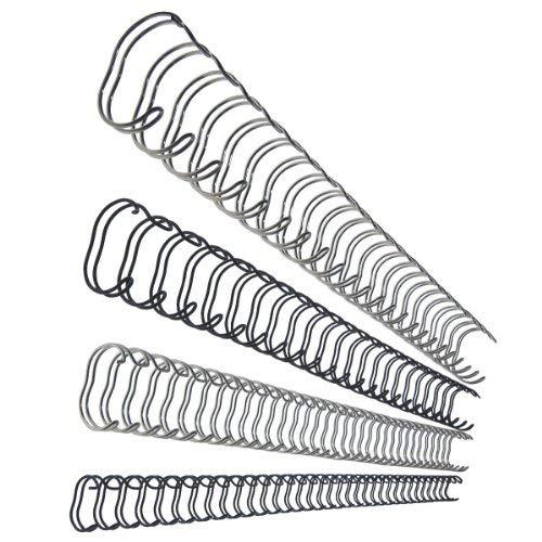 Leitz 27707 Drahtbinderücken, A4, 6 mm, 45 Blatt, 100 Stück, silber