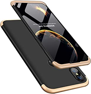 COTDINFORCA Huawei Y9 2019 Case, 3 in 1 Ultra Thin Hard PC Case Premium Slim 360 Degree Full Body Protective Shockproof Cover for Huawei Enjoy 9 Plus/Huawei Y9 2019. 3 in 1- Gold + Black