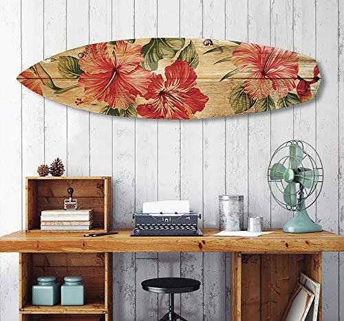 HXA Deco – Tabla de surf decorativa, varias opciones, decoración de pared, impresión en aluminio Dibond, Surf Vintage, 150 x 40 cm