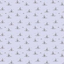 WallCandy Arts Removable Wallpaper, Polar Bears Lavender