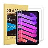 SPARIN Panzerglas kompatibel mit iPad mini 6 2021 (8.3 Zoll), 3 Stück Schutzfolie für iPad mini 6. Generation, Bildschirmschutzfolie mit Blasenfrei, Kratzfest