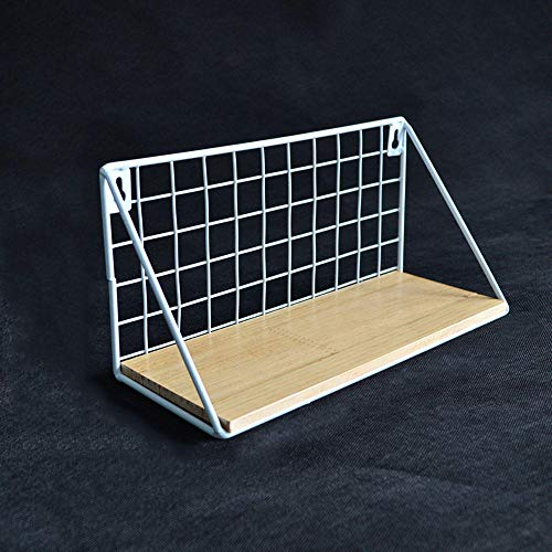 MZL Plantenrek wandhouder houten planken bloempot frame hangende vitrines voor woonkamer/slaapkamer/badkamer/keuken 29 * 12 * 14CM wit