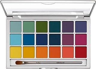 Kryolan Basic Eyes Eyeshadow Palette with 18 Colours Color V 2 Bright 0.7 oz